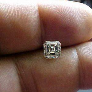 Kim cương nhân tạo Moissanite Asscher 4ly