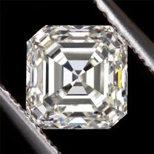 Kim cương nhân tạo Moissanite Asscher 7ly