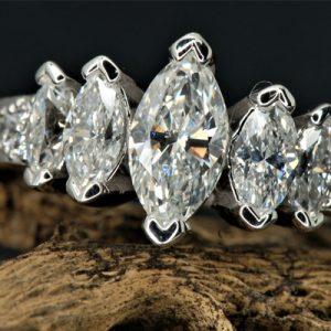 Kim cương nhân tạo Moissanite Marquise 12x6
