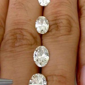 Kim cương nhân tạo Moissanite Oval 12x10