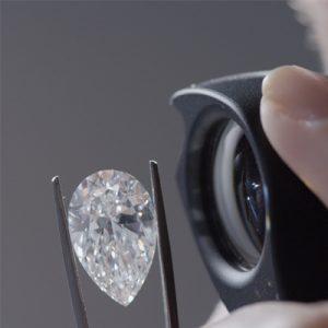 Kim cương nhân tạo Moissanite Pear 10x8