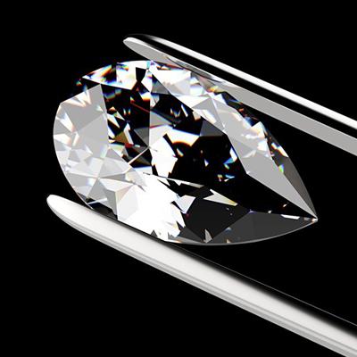 Kim cương nhân tạo Moissanite Pear 12x7
