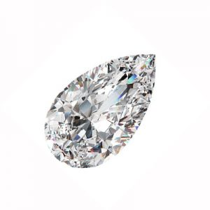 Kim cương nhân tạo Moissanite Pear 14x10