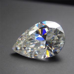 Kim cương nhân tạo Moissanite Pear 14x8