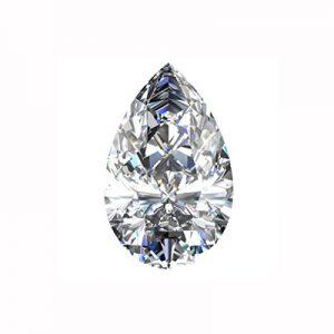Kim cương nhân tạo Moissanite Pear 16x9