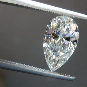 Kim cương nhân tạo Moissanite Pear 18x11