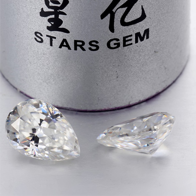 Kim cương nhân tạo Moissanite Pear 3x2