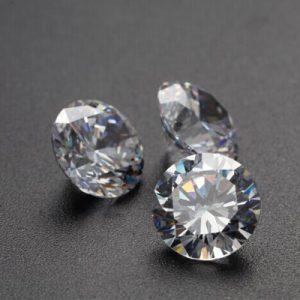 Kim cương nhân tạo Moissanite Round 10ly