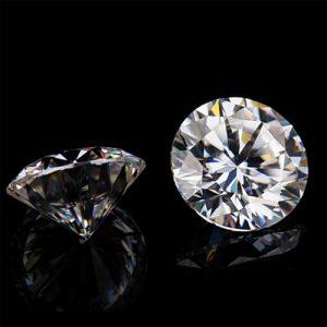 Kim cương nhân tạo Moissanite Round 14ly5