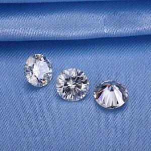Kim cương nhân tạo Moissanite Round 3ly6