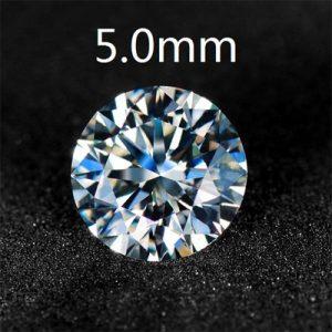 Kim cương nhân tạo Moissanite Round 5ly