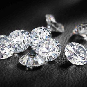 Kim cương nhân tạo Moissanite Round 8ly5