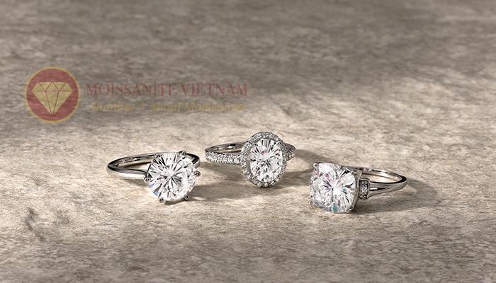 Kim cương nhân tạo moissanite là loại đá rực rõ nhất thế giới