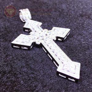 Mặt dây chuyền thánh giá kim cương nhân tạo moissanite 1