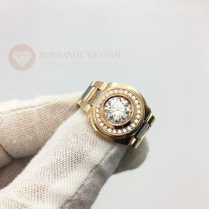 Nhẫn Rolex nam kim cương nhân tạo moissanite 1