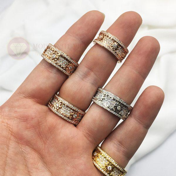Nhẫn xoay Kitnet full kim cương nhân tạo moissanite 2