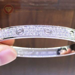 Vòng tay tình yêu kim cương Love Bracelet Catier vàng trắng 18k
