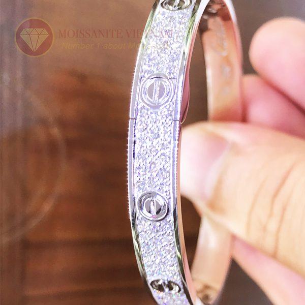 Vòng tay tình yêu kim cương Love Bracelet Catier vàng trắng 18k 4