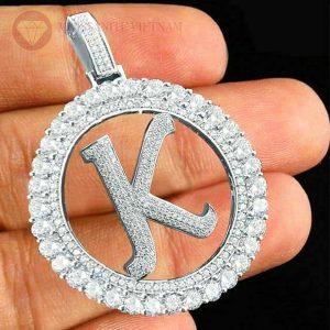 Mặt dây chuyền nam kim cương chữ K