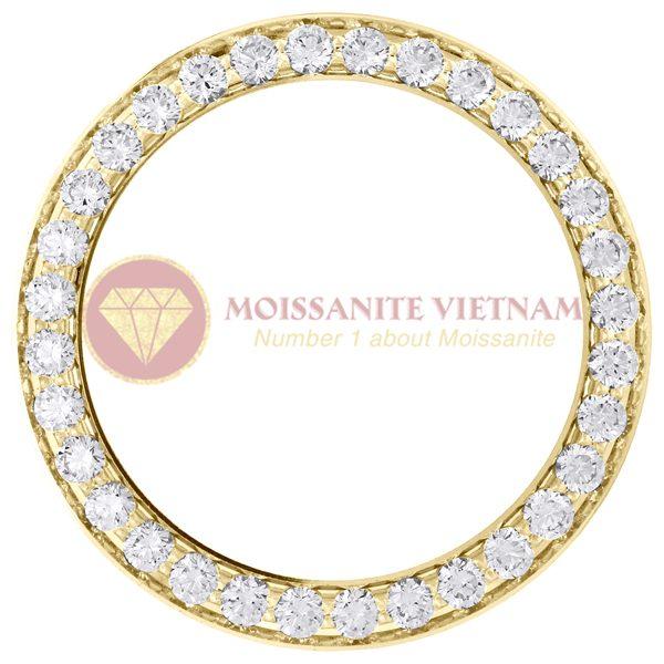 Độ đồng hồ Rolex size 26 full kim cương 1.35ct vàng vàng 18k