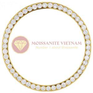 Độ niềng đồng hồ Rolex size 36 full kim cương vàng vàng 18k