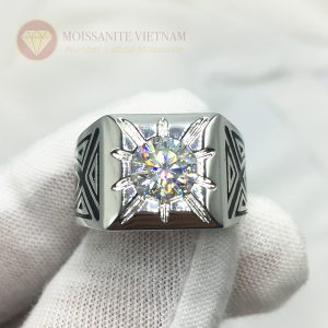 Nhẫn nam Glamira đổ huyền kim cương moissanite