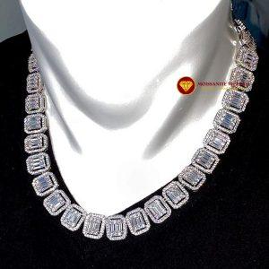 Dây chuyền kim cương nam baguette tenis chain