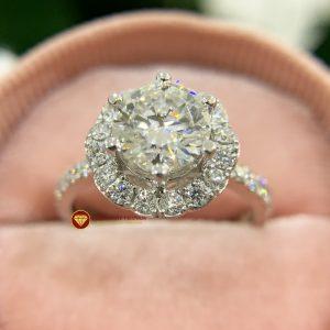 Nhẫn nữ kim cương moissanite chủ 6ly5 engagement 2