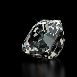 Kim cương nhân tạo Moissanite Asscher 11ly