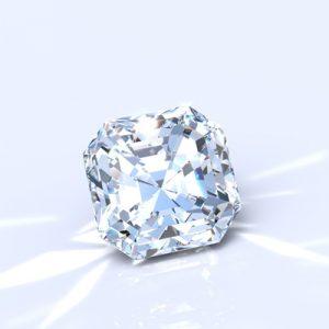 Kim cương nhân tạo Moissanite Asscher 5ly