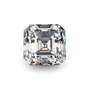 Kim cương nhân tạo Moissanite Asscher 5ly5