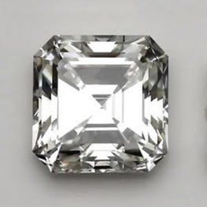Kim cương nhân tạo Moissanite Asscher 6ly