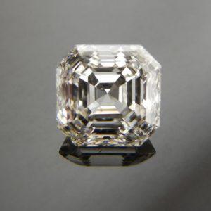Kim cương nhân tạo Moissanite Asscher 7ly5
