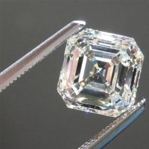 Kim cương nhân tạo Moissanite Asscher 8ly