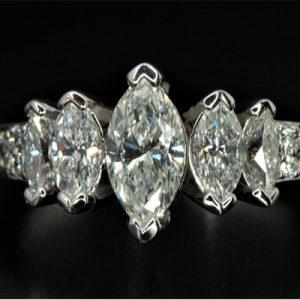 Kim cương nhân tạo Moissanite Marquise 10x5