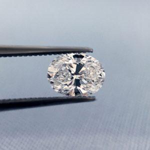Kim cương nhân tạo Moissanite Oval 12x8