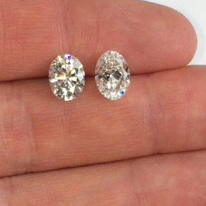 Kim cương nhân tạo Moissanite Oval 14x10
