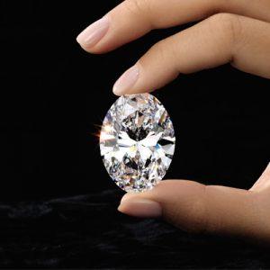 Kim cương nhân tạo Moissanite Oval 16x12