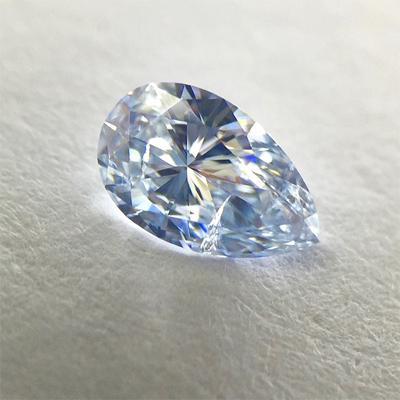 Kim cương nhân tạo Moissanite Pear 10x6