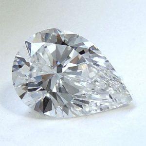 Kim cương nhân tạo Moissanite Pear 13x9