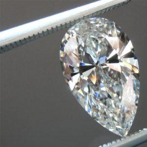Kim cương nhân tạo Moissanite Pear 17x10