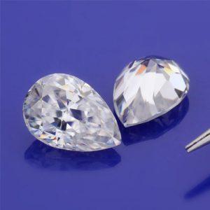Kim cương nhân tạo Moissanite Pear 5x4