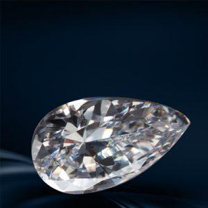Kim cương nhân tạo Moissanite Pear 8x6