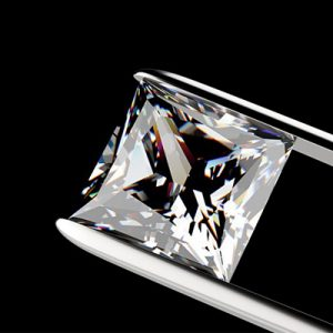 Kim cương nhân tạo Moissanite Princess 11ly5