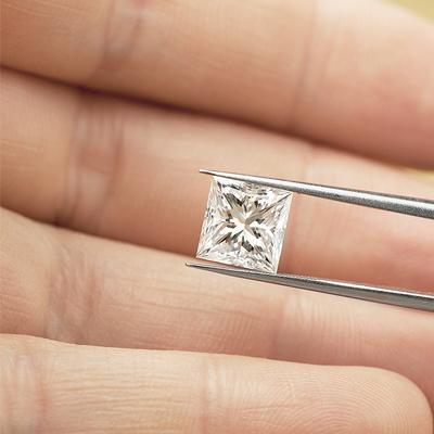 Kim cương nhân tạo Moissanite Princess 3ly
