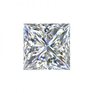 Kim cương nhân tạo Moissanite Princess 8ly