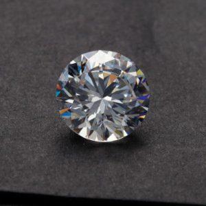 Kim cương nhân tạo Moissanite Round 10ly5
