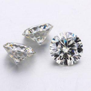 Kim cương nhân tạo Moissanite Round 11ly