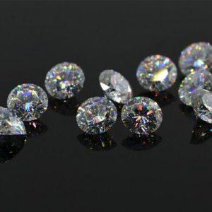 Kim cương nhân tạo Moissanite Round 3ly