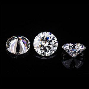 Kim cương nhân tạo Moissanite Round 3ly25